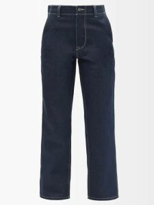 Thierry Colson - Saskia Pintucked Cotton Blend Georgette Dress - Womens - Grey White