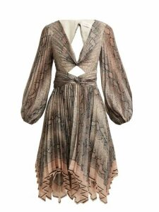 Zimmermann - Corsage Pleat Python Print Dress - Womens - Python