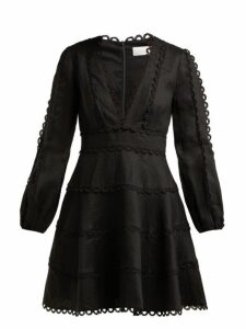 Zimmermann - Heathers Linen Dress - Womens - Black