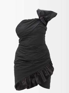 Diane Von Furstenberg - Camilla Off The Shoulder Printed Silk Dress - Womens - Black Green
