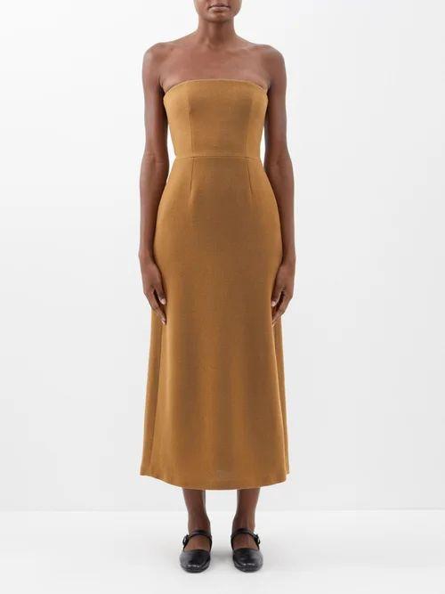 Emilia Wickstead - Margot Floral Print Satin Blouse - Womens - Pink Print