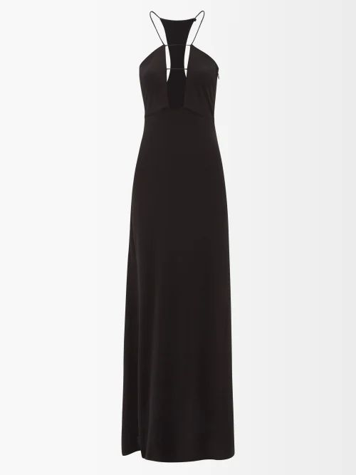 Ganni - Sweeny Patchwork Cotton Western Shirt - Womens - White Multi