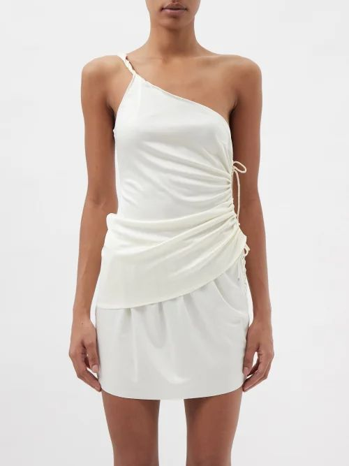Raey - Dropped Shoulder Wool Blend Blanket Coat - Womens - Burgundy