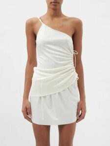 Raey - Dropped Shoulder Wool Blend Blanket Coat - Womens - Burgundy