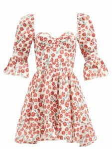 Summa - Single Breasted Prince Of Wales Checked Coat - Womens - Black White