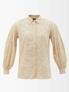 Proenza Schouler - Striped Cotton Blend Cropped Top - Womens - Black Stripe