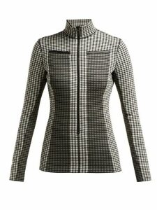 Proenza Schouler Pswl - Gingham Jersey Top - Womens - Black White