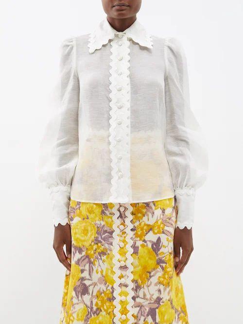 Christopher Kane - Double Breasted Duchess Satin Coat - Womens - Black