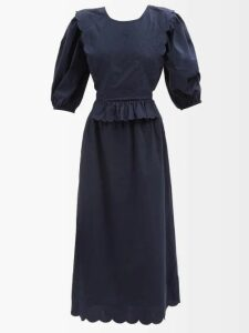 Christopher Kane - Double Breasted Duchess Satin Coat - Womens - Black