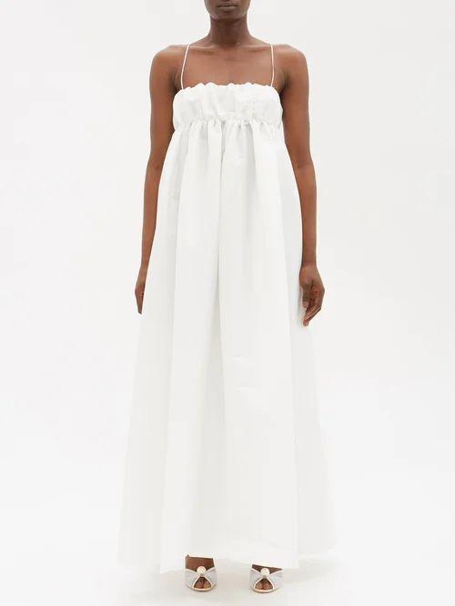 Erdem - Karenna Deep Sea Embroidered Organza Gown - Womens - Black Pink