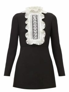 Erdem - Karenna Deep Sea Embroidered Organza Gown - Womens - Black Pink