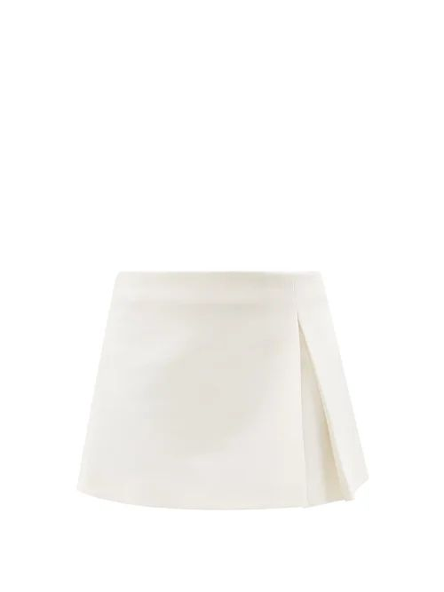 Rebecca De Ravenel - Dotty Print One Shoulder Silk Bustier Top - Womens - Red