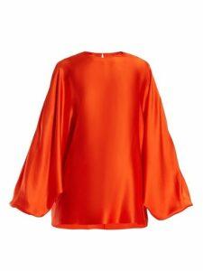Roksanda - Flora Silk Satin Top - Womens - Orange