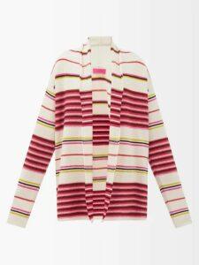 Proenza Schouler - Balloon Sleeved Cashmere Blend Sweater - Womens - Black
