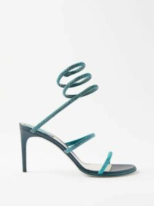 Preen Line - Ruffled Asymmetric Cotton Blend Pencil Skirt - Womens - Black