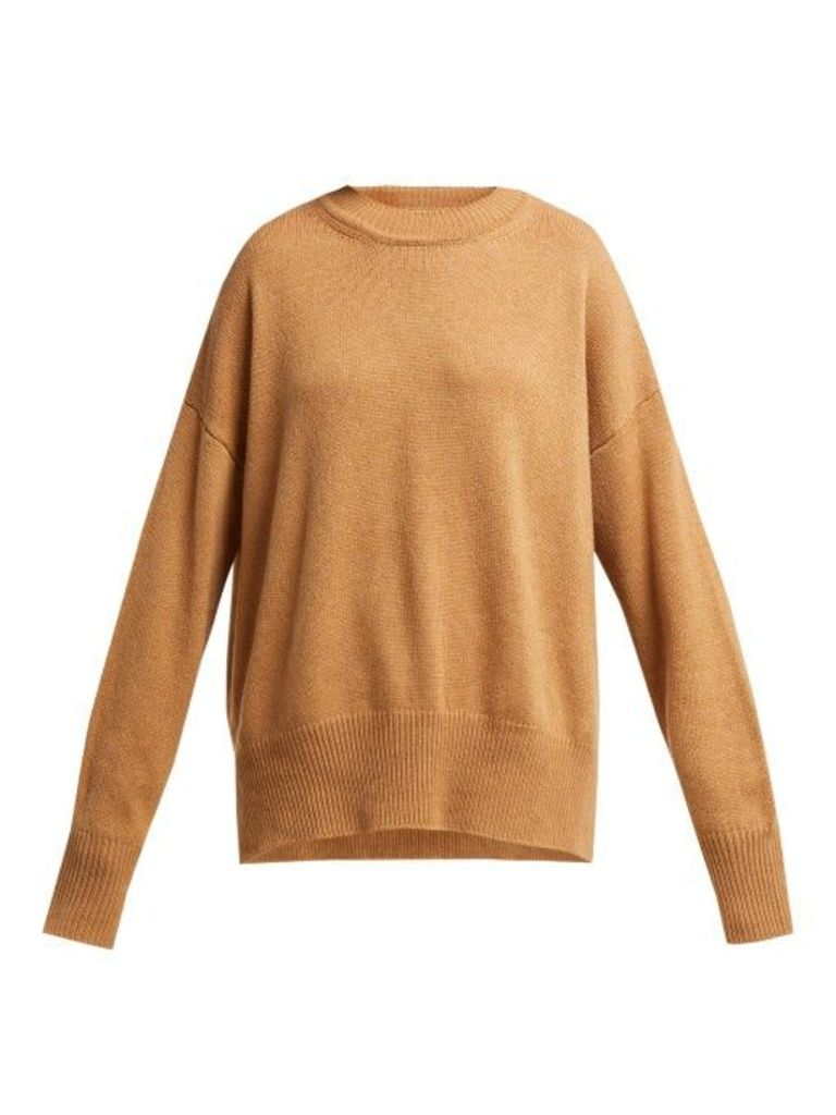 Jil Sander - Dropped Sleeve Cashmere Sweater - Womens - Camel