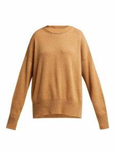 Jil Sander - Dropped Sleeve Cashmere Sweater - Womens - Camel