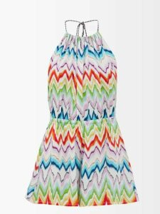 Bella Freud - 1970 Intarsia Knit Sweater - Womens - Yellow Multi