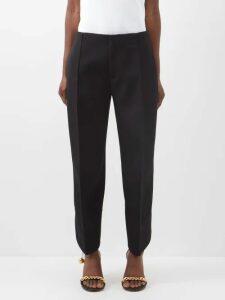 Shrimps - Gingham Ruffle Short Sleeved Sweater - Womens - Yellow