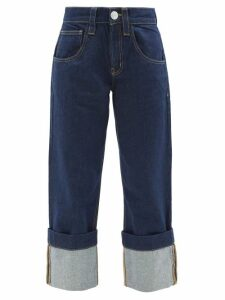 Preen Line - Striped Asymmetric Hem Crepe Dress - Womens - Black Multi