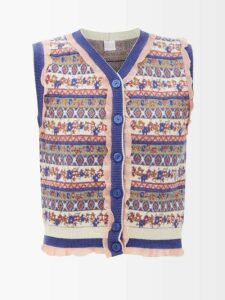 Horror Vacui - Fiorina Cotton Midi Dress - Womens - Black