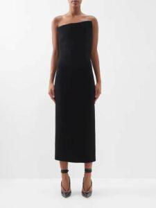 Ganni - Mullin Leopard Print Georgette Midi Dress - Womens - Leopard