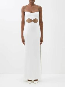 Altuzarra - Abelia Knitted Pleated Midi Dress - Womens - Blue