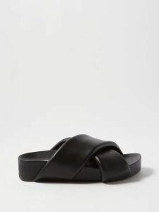 Proenza Schouler - Ruffle Trimmed Jersey Midi Dress - Womens - Black