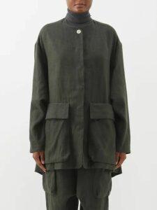 Joseph - Koda Striped Cotton Tunic Dress - Womens - Blue Stripe