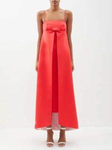 Tibi - Sequinned Silk Midi Skirt - Womens - Navy