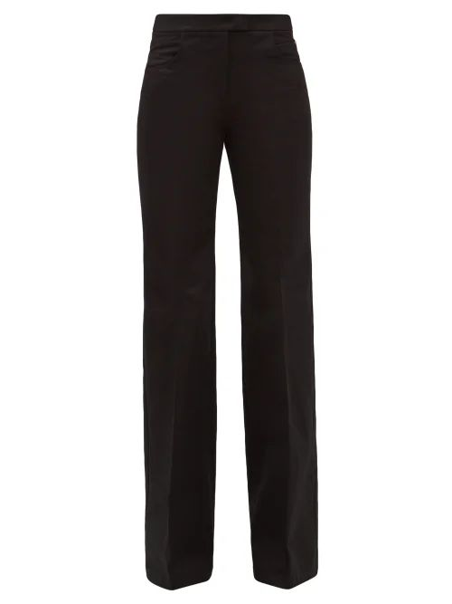 Roland Mouret - Hurst Silk Blend Cloqué Skirt - Womens - Blue