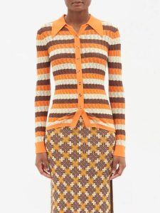 Andrew Gn - Broderie Anglaise Cotton Skirt - Womens - Black