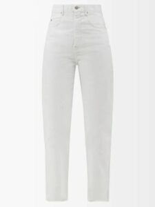 Proenza Schouler - Ruffled Long Silk Dress - Womens - Dark Green