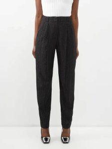 Diane Von Furstenberg - Sareth Polka Dot Silk Blend Wrap Dress - Womens - Black Silver