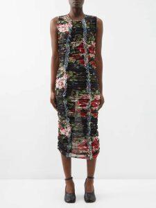 Vivienne Westwood Anglomania - Vian Draped Asymmetric Midi Dress - Womens - Blue