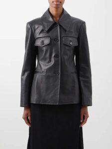 Chloé - Little Horses Print Silk Georgette Wrap Dress - Womens - Blue Print