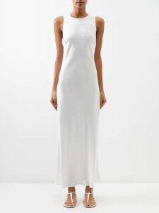 Msgm - Bow Detail Crepe Mini Dress - Womens - Red