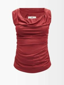 Ganni - Sonora Sequinned Midi Dress - Womens - Silver