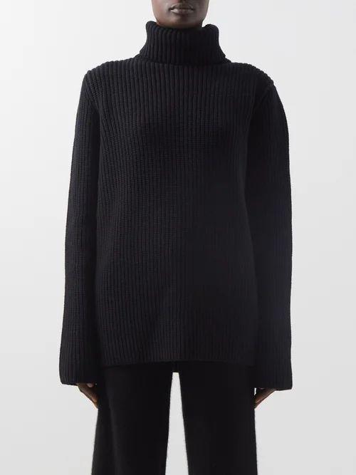 Vivienne Westwood Anglomania - Gathered Satin Pencil Skirt - Womens - Black