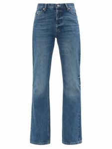 Ganni - Sonora Sequinned Pencil Skirt - Womens - Silver