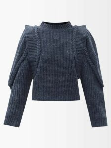 Ganni - Sonora Sequinned Pencil Skirt - Womens - Black