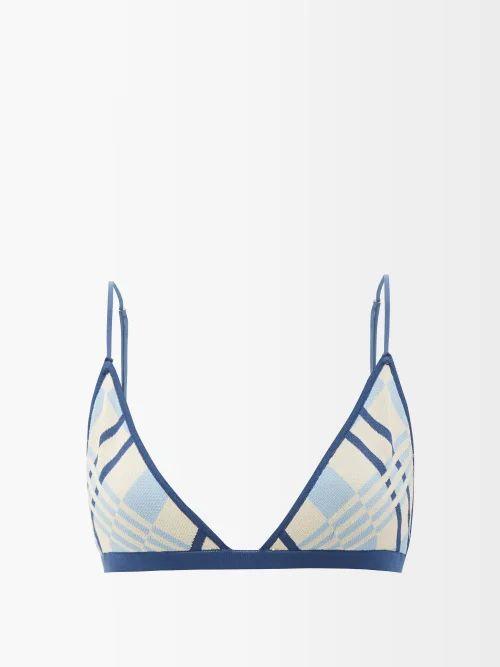 Ganni - Merkel Diamante Checked Silk-blend Skirt - Womens - Grey