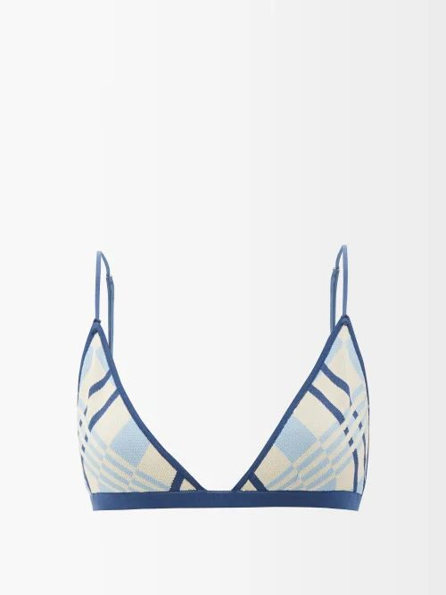 Ganni - Merkel Diamante Checked Silk Blend Skirt - Womens - Grey