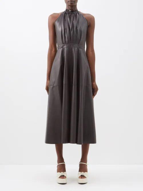 Miu Miu - Buttoned Virgin Wool Skirt - Womens - Navy
