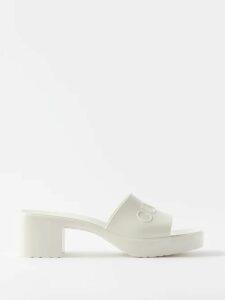 Gucci - Logo Print Cotton T Shirt - Womens - Black