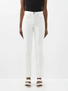 Summa - Prince Of Wales Check Wool Blend Blazer - Womens - Black White