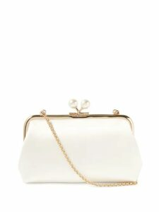 Ganni - Cameron Polka Dot Quilted Satin Blazer - Womens - Black