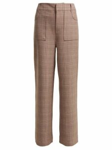 Ganni - Hewitt Checked Trousers - Womens - Pink Multi