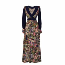 Sarvin - Larica Hand Painted Print Maxi Dress