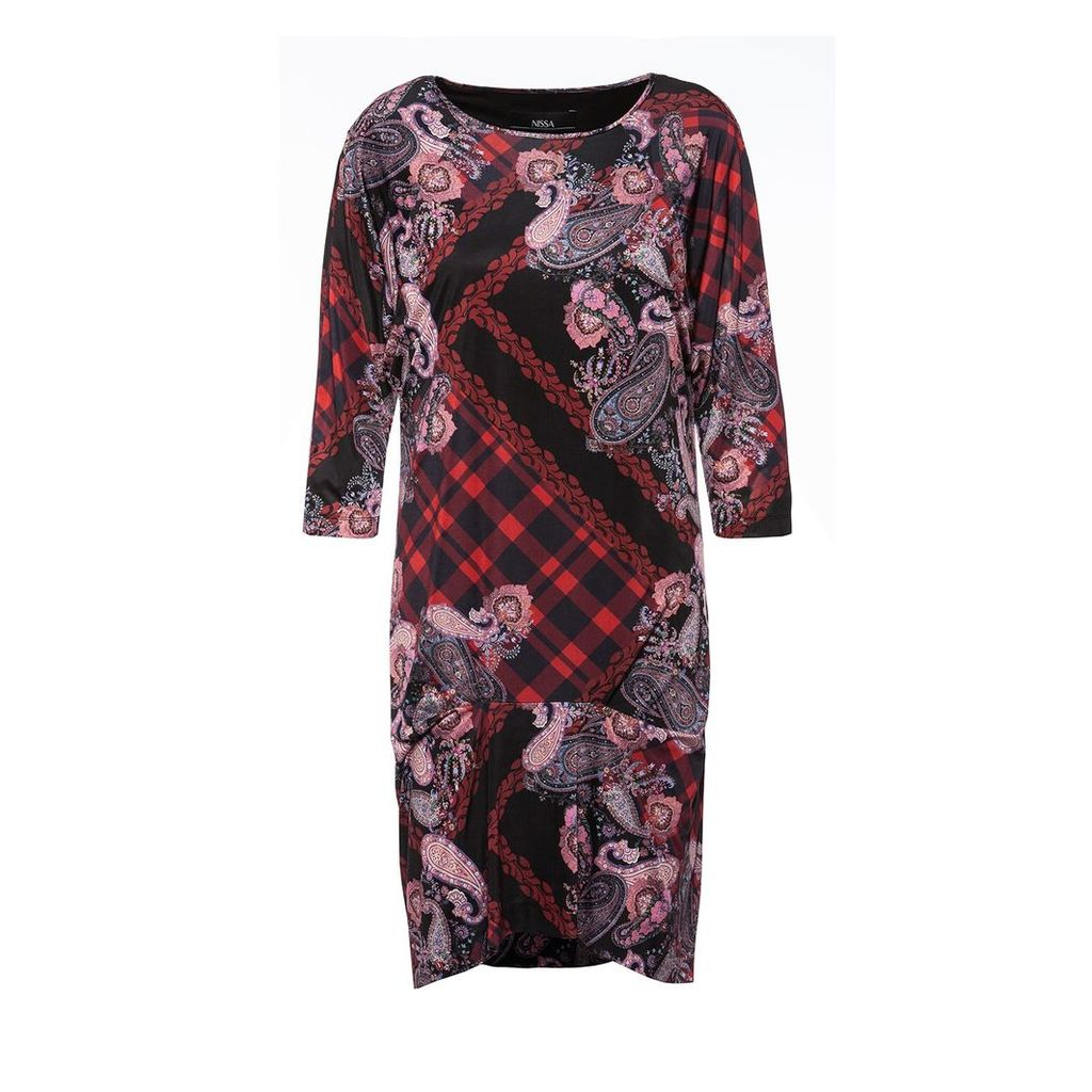 Nissa - Printed H Line Dress